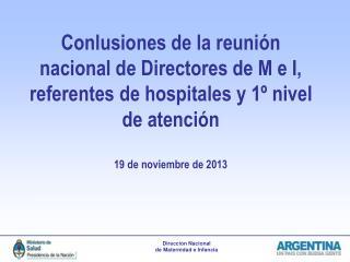 Regionalización perinatal: Area  Metropolitana