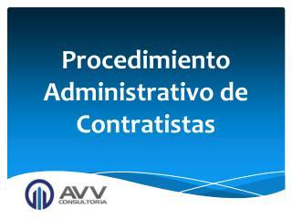 Procedimiento Administrativo de Contratistas