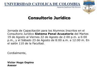 UNIVERSIDAD CATOLICA DE COLOMBIA