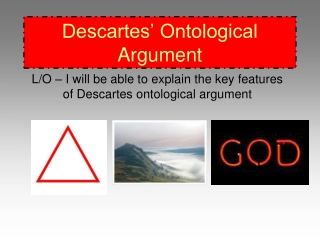 Descartes  Ontological Argument