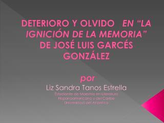 JOS�  LUIS GARC�S GONZ�LEZ