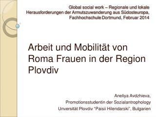 Global social work � Regionale und lokale