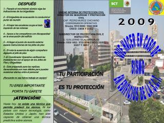 UNIDAD INTERNA DE PROTECCION CIVIL DIRECTOR DE SEGURIDAD Y PROTECCIÓN CIVIL