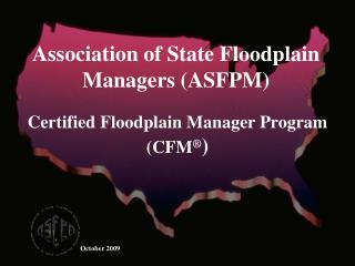 Certified Floodplain Manager Program CFM