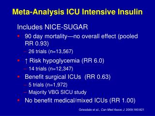 Meta-Analysis ICU Intensive Insulin