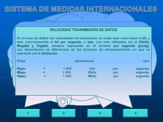 SISTEMA DE MEDIDAS INTERNACIONALES