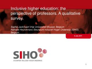 Inclusive higher education: the perspective of professors.  A  qualitative survey .
