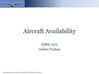Aircraft Availability