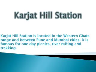 Karjat Hill Station
