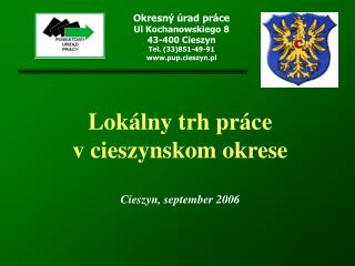 Lok�lny trh pr�ce  v cieszynskom okrese Cieszyn, september 2006