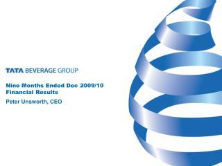 Nine Months Ended Dec 2009/10 Financial Results