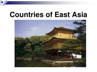 Countries of East Asia