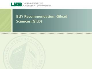 BUY Recommendation: Gilead Sciences (GILD)