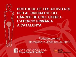Roda de premsa Barcelona, 1 d'octubre de 2010