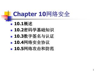 Chapter 10 网络安全
