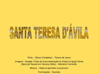 SANTA TERESA D VILA