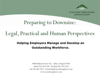 Preparing to Downsize:  Legal, Practical and Human Perspectives