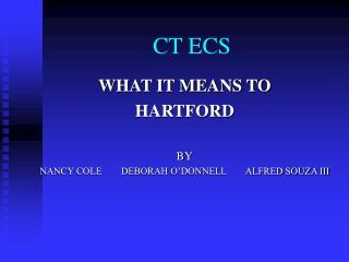CT ECS