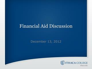 Financial Aid Discussion