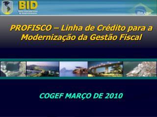 COGEF MARÇO DE 2010