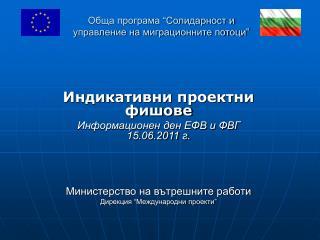 "Обща програма ""Солидарност и управление на миграционните потоци"""