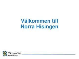 Välkommen till  Norra Hisingen