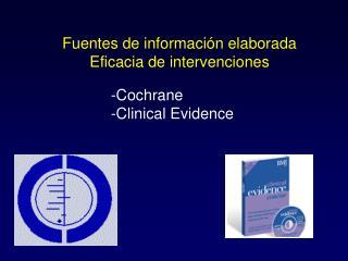 Fuentes de información elaborada Eficacia de intervenciones