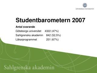Studentbarometern 2007