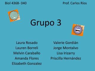Biol 4368- 040                                           Prof. Carlos Ríos Grupo 3