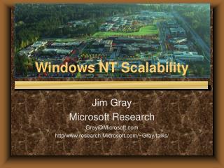 Windows NT Scalability
