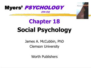 Myers'  PSYCHOLOGY (5th Ed)