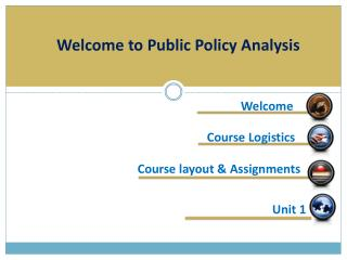 Welcome to Public Policy Analysis