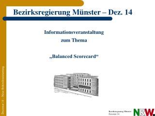 Informationsveranstaltung zum Thema   Balanced Scorecard