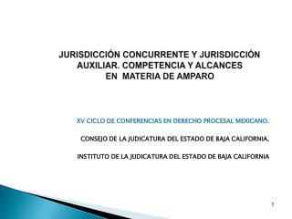 JURISDICCIÓN CONCURRENTE Y JURISDICCIÓN AUXILIAR. COMPETENCIA Y ALCANCES  EN  MATERIA DE AMPARO