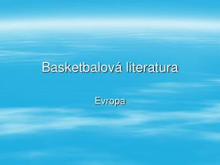 Basketbalová literatura