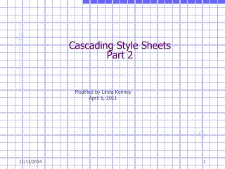 Cascading Style Sheets Part 2