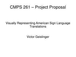 CMPS 261 – Project Proposal