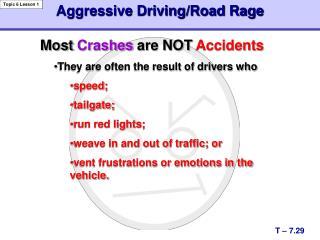 Aggressive Driving/Road Rage