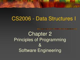 CS2006 - Data Structures I
