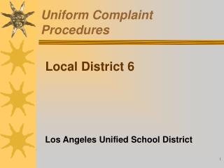 Uniform Complaint Procedures