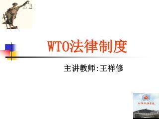 WTO 法律制度