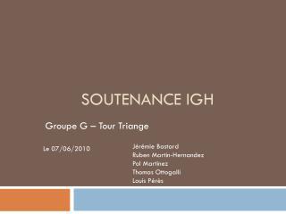 Soutenance IGH