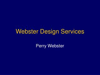 Webster Design Services