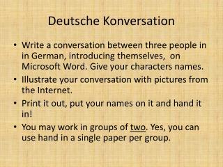 Deutsche Konversation