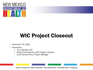 New Mexico WIC