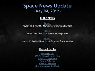 Space News Update - May 04, 2012 -