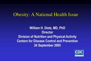 Obesity: A National Health Issue