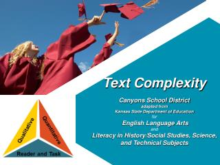 Text Complexity  Canyons School District adapted from Kansas State Department of Education for