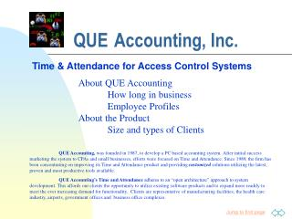 QUE Accounting, Inc.