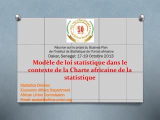 Modèle de loi statistique dans le contexte de la Charte africaine de la statistique